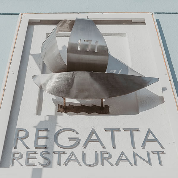 regatta restaurant front sign
